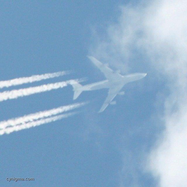 Boeing 747 über TF