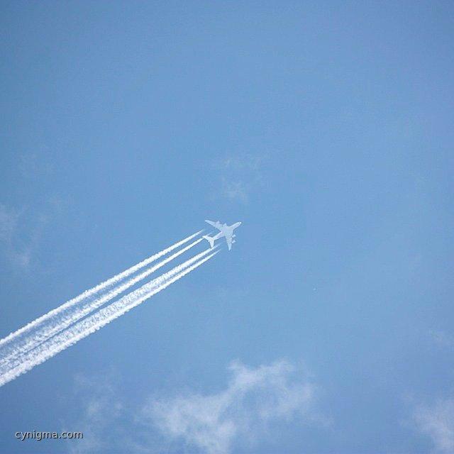 Lufthansa A 380 über TF