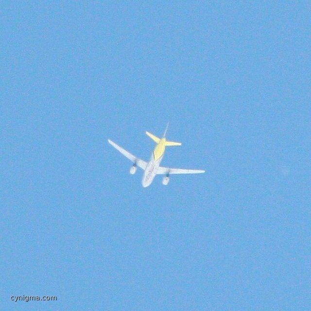 Germanwings  A 319 über TF