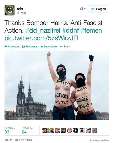 Screenshot Tweet Thanks Bomber Harris