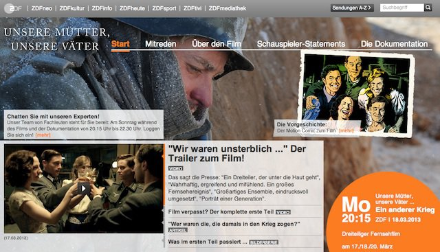 Screenshot ZDF Website