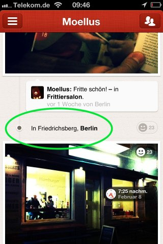 Screenshot Path mit Friedrichsberg Location