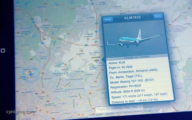 Flightradar24 Pro aufm PoserPad