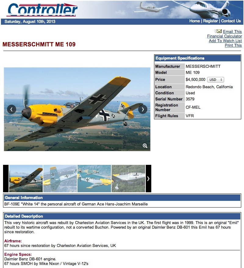 messerschmitt-bf-109-white-14-for-sale