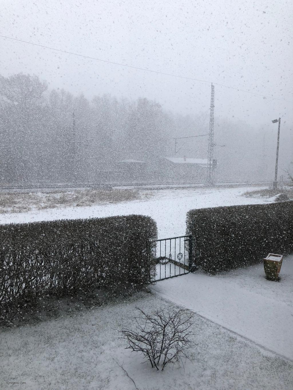 neulich im Nordosten Brandenburgs: Schnee