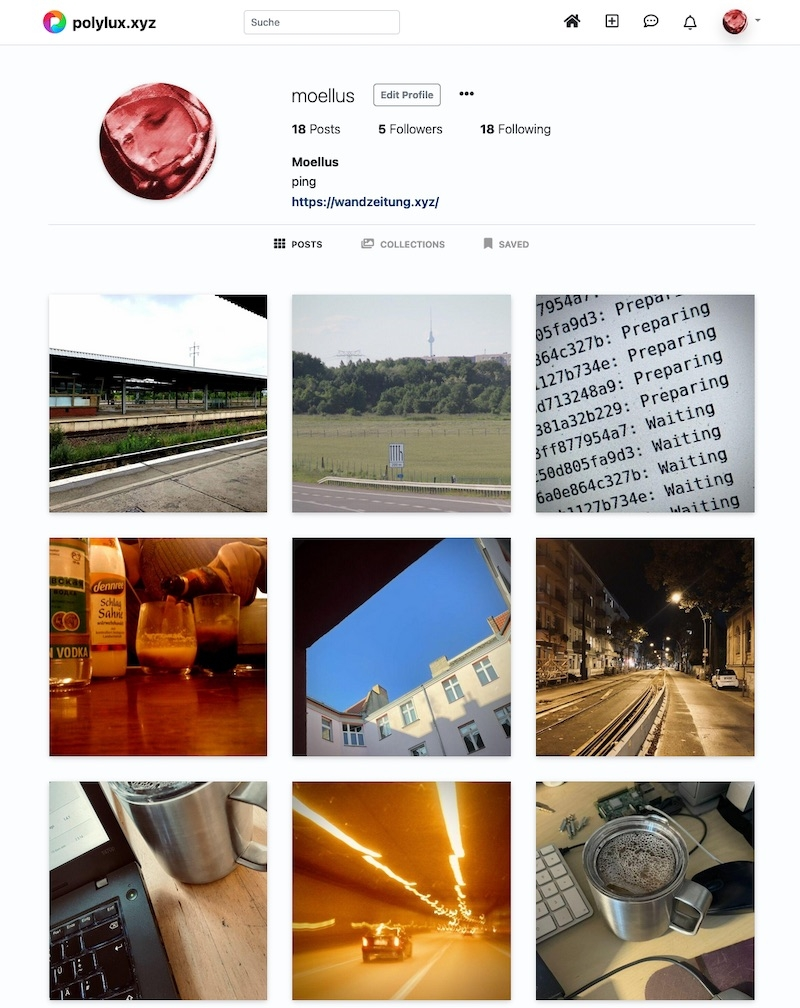 Pixelfed Instanz www.polylux.xyz